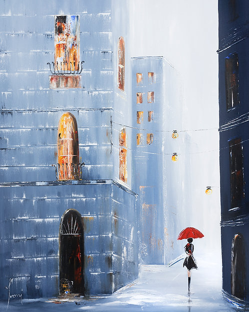 """In the Old City of Costello"" Giclee Print on Canvas"