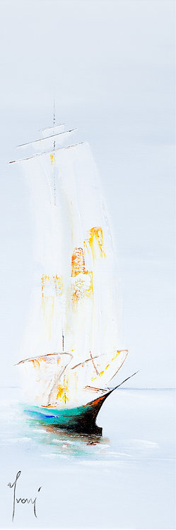 """""""Returning"""" 4X12 Giclee Lithograph Canvas Print"""