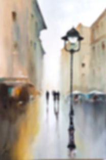 paintings by yvoni WALKING AWAY