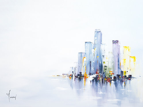 """""""Ice City"""" Giclee Lithograph Canvas Print"""