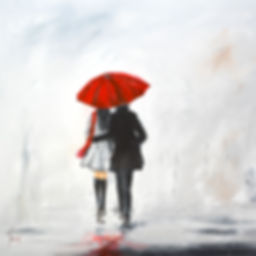 paintings by yvoni under one umbrella