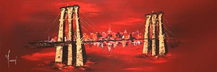 """Brooklyn Bridge - Red"""