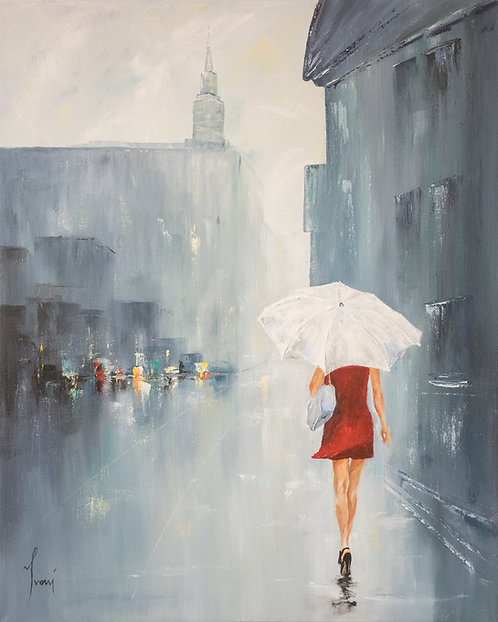 """White Umbrella""  Fine Art Paper Print"
