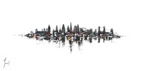 """London Skyline - Classic"