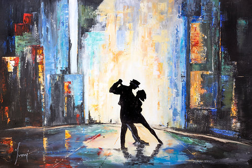 """Dancing in Times Square""  Hand Painted Original"
