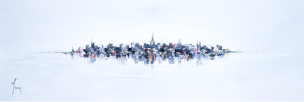 """NYC Skyline - Blue"""