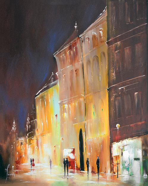 """23 Street"" Giclee Lithograph Canvas Print"