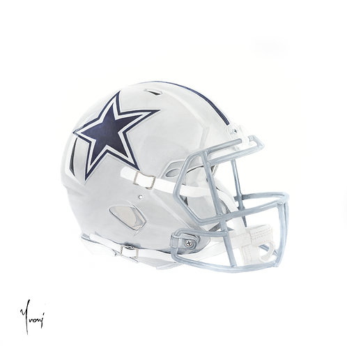 """Dallas Cowboys"" Giclee Lithograph Canvas Print"