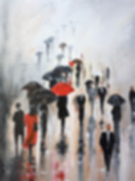 paintings by yvoni RAINY MONDAY