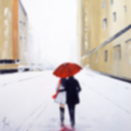 paintings by yvoni under one umbrella on gold street