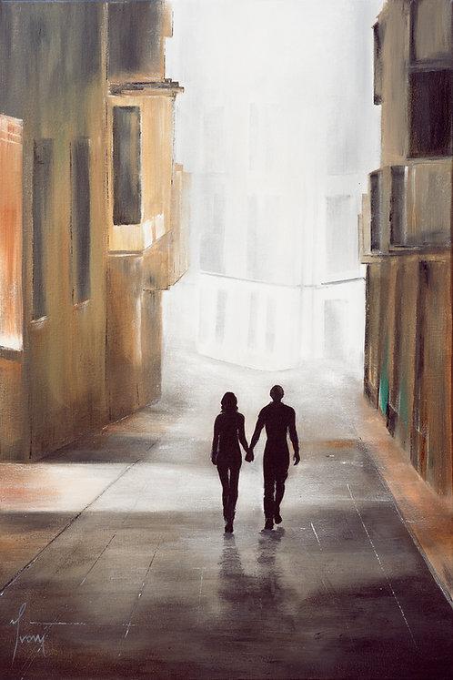 """Crossroads""  Giclee Lithograph Canvas Print"