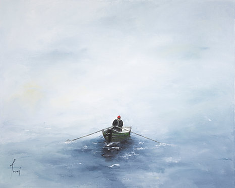 """The Man and the Sea"" Giclee Print on Canvas"