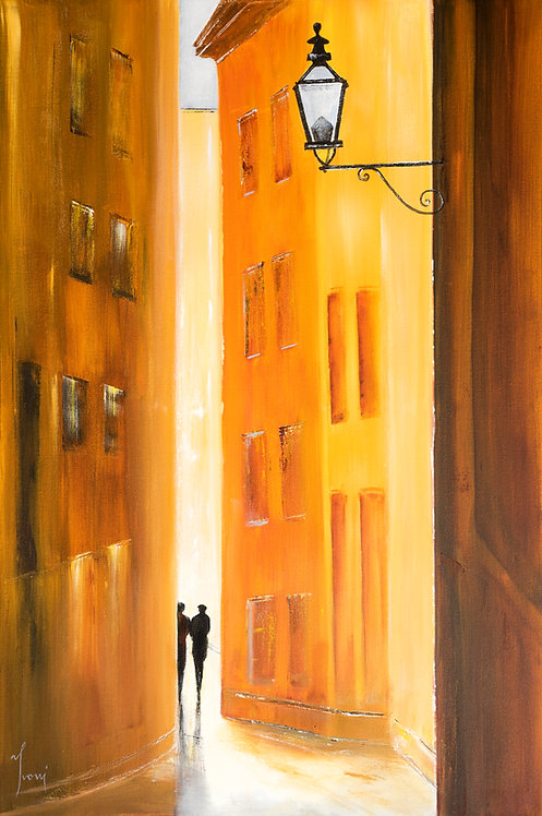 """Around the Corner""  Giclee Lithograph Canvas Print"