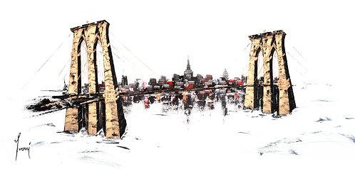 """Brooklyn Bridge - Classic""  Fine art Paper Print"