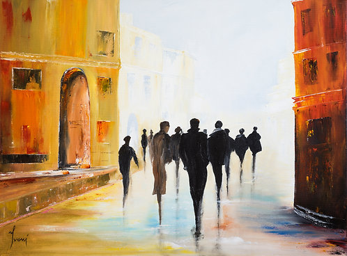 """""""Followers"""" Giclee Lithograph Print on Canvas"""