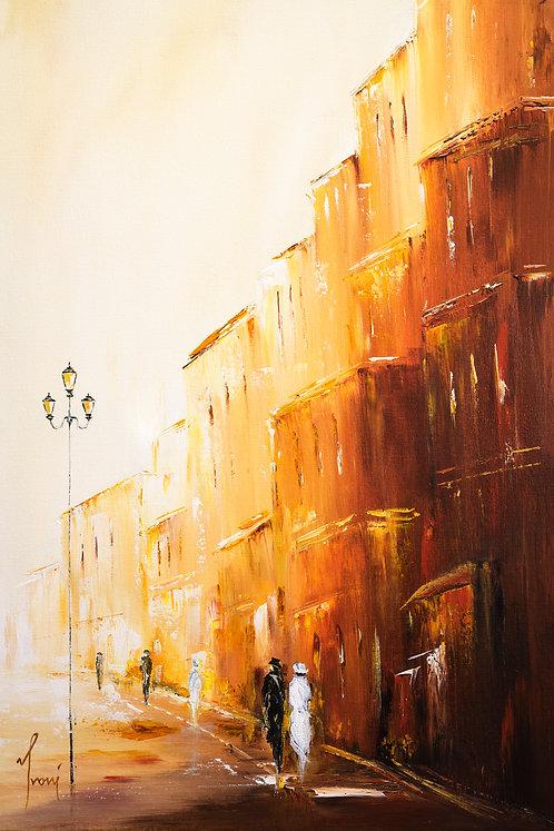"""Romantic Walk R"" Fine Art Paper Print"