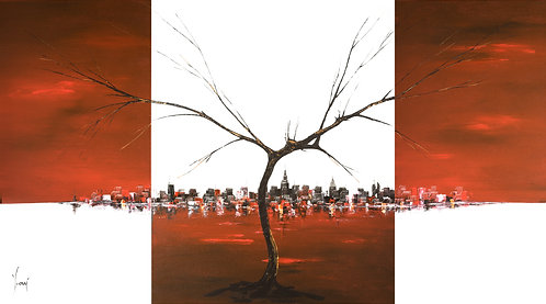 """A Tree Grows in Brooklyn - Red""  Fine Art Paper"