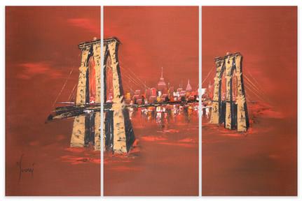 Brooklyn Bridge - Red