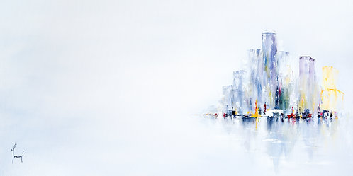 """Ice City""  Giclee Print on Cnavas"