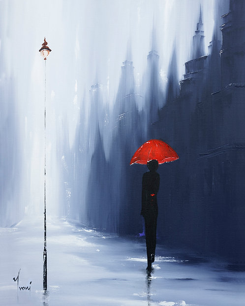 """""""Lonliness in theCity"""" Lithograph Canvas Print"""