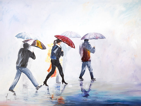 """""""Have You Ever Seen the Rain"""" Giclee Lithograph Canvas Print"""