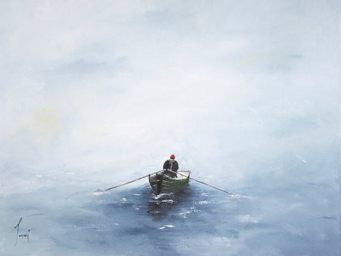 """""""The Man and the Sea"""" Giclee Lithograph Canvas Print"""