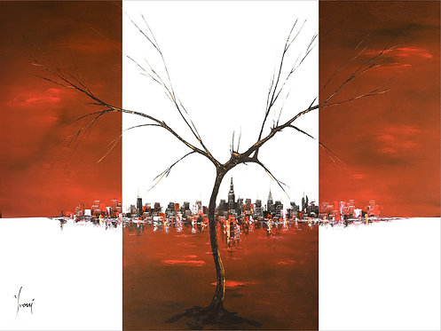 """A Tree Grows in Brooklyn"" Giclee Lithograph Canvas Print"