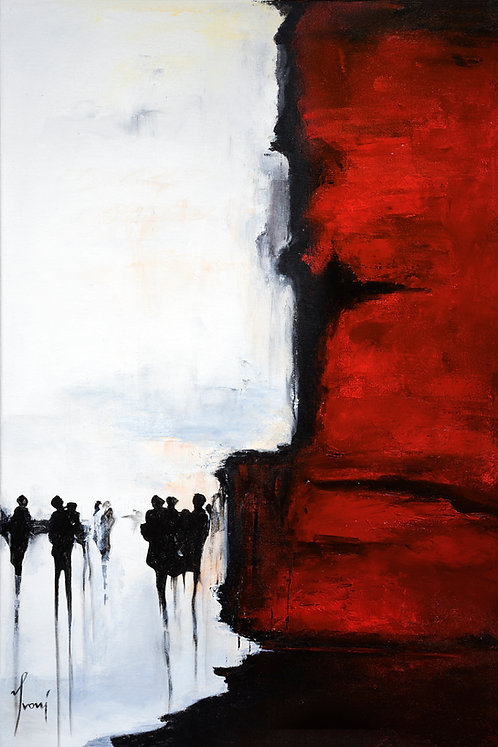 """""""Back of the Red Wall""""  Giclee Print on Canvas"""