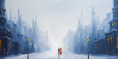 """Winter Walk - The Couple"" Fine Art Paper Prints"