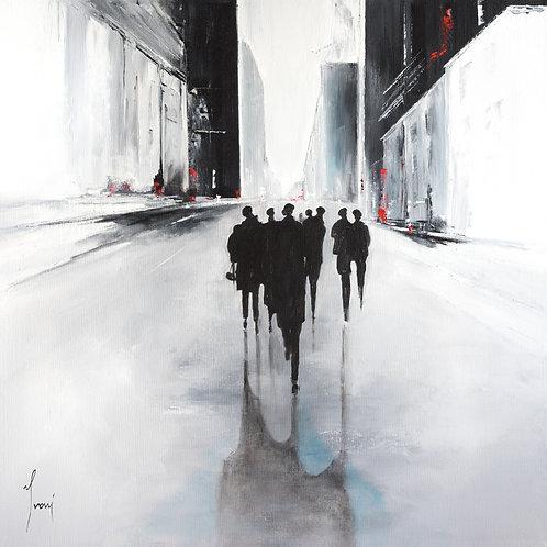 """Shadows on White Street"" Fine Art Paper Print"