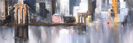 """Midtown Sailing by the Bridge - Purple"""