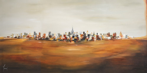 """View from University Place One"" Lithograph Canvas Print"