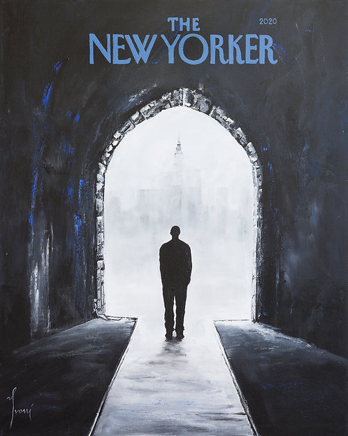 """""""The New Yorker - The City"""" Fine Art Paper Print"""