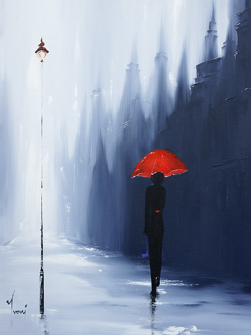 """""""Lonliness in the City"""" Giclee Lithograph Canvas Print"""