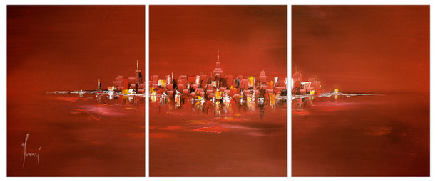 NYC Skyline - Red