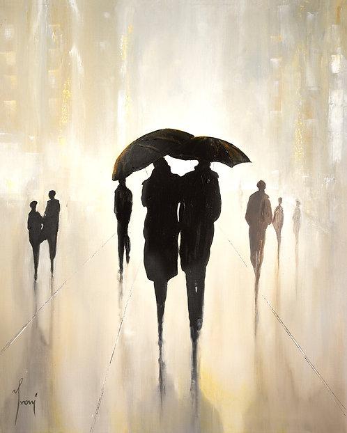 """Shadows Gold"" Giclee Lithograph Canvas Print"