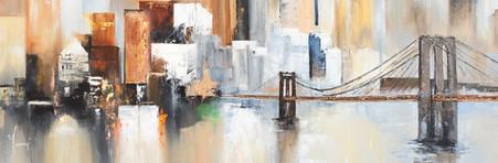 """Midtown Sailing by the Bridge"""