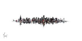 """Chicago Skyline - Classic"""
