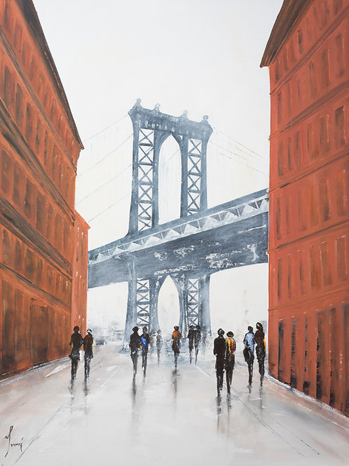 """From Dumbo"" Giclee Print on Canvas"