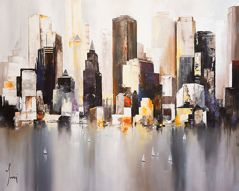 """""""Midtown Sunset"""" Giclee Lithograph Canvas Print"""