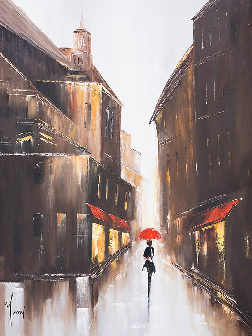 """""""Walk on Christopher Street"""" Giclee Lithograph Canvas Print"""