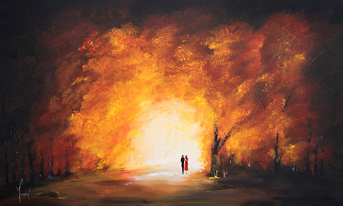 """Exit From the Park"" Giclee Print on Canvas"