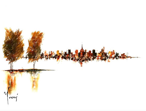 """""""Two Islands"""" Giclee Lithograph Canvas Print"""