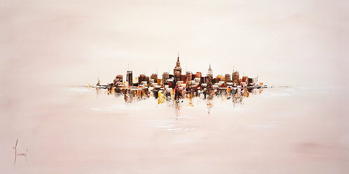 """NYC Skyline - Sand"" Giclee Print on Canvas"