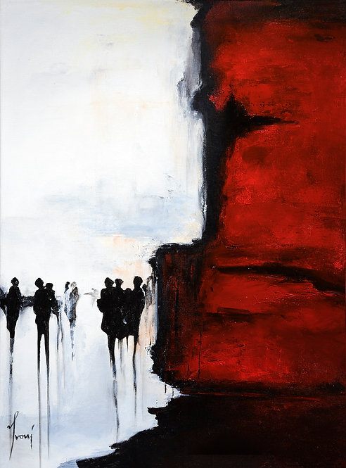 """""""Back of the Red Wall"""" Giclee Lithograph Canvas Print"""