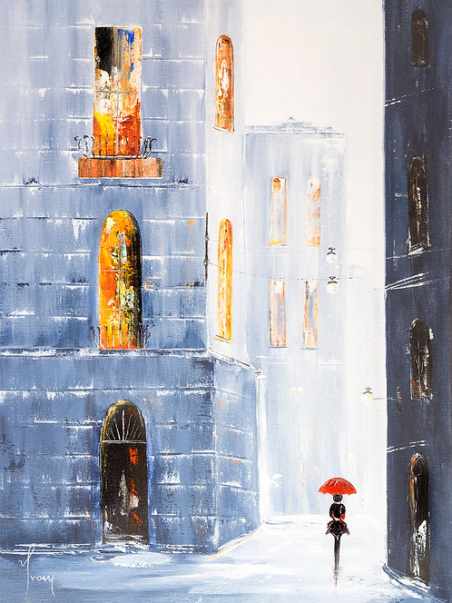 """""""In the Old City of Costello"""" Giclee Lithograph Canvas Print"""