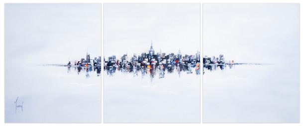 NYC Skyline - Blue