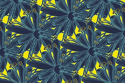 Postkarte Blüte Linde dunkel
