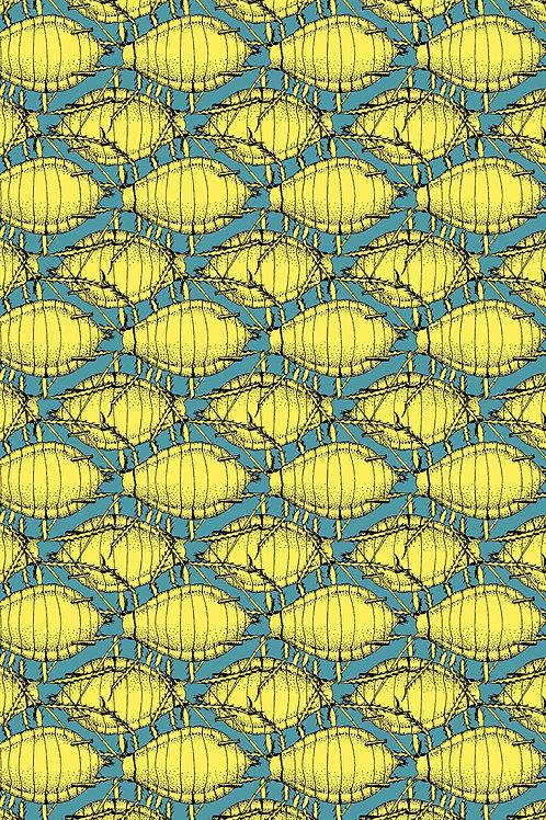 Postkarte Blattlaus gelb