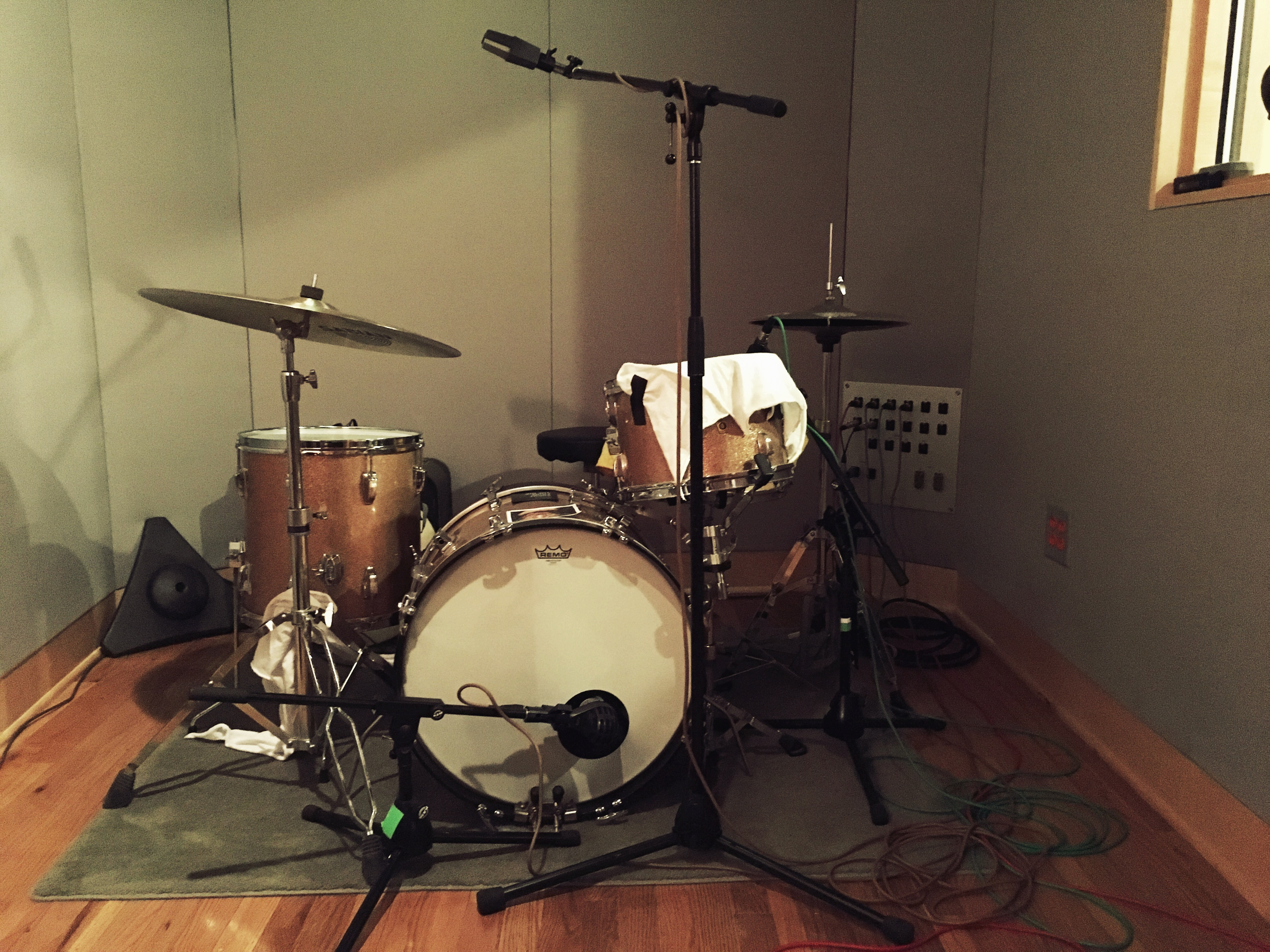 Gretsch Drums in studio B